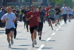 Fun Run runner in action Royalty Free Stock Image
