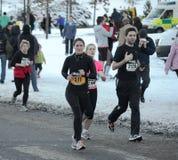 Fun runners in Edinburgh, Scotland Royalty Free Stock Photography