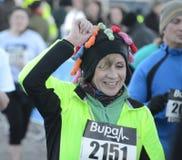 Fun runners in Edinburgh, Scotland Stock Photo