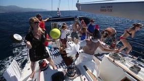 Fun of sail regatta. Sailors participate in sailing regatta stock video footage