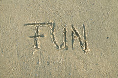 Fun in sand Royalty Free Stock Photography