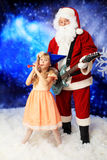 Fun with santa Royalty Free Stock Image