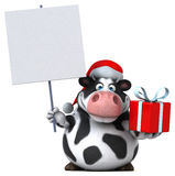 Fun santa cow - 3D Illustration Royalty Free Stock Photography