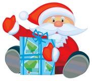 Fun Santa with gift. Royalty Free Stock Photos