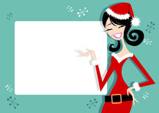 Fun Santa Girl Border Royalty Free Stock Image