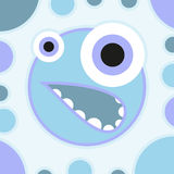 Fun scared cartoon monster Vector illustration Royalty Free Stock Photo