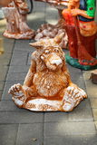 Fun sculpture of wolf Royalty Free Stock Image