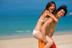 Fun By Sea Royalty Free Stock Photos