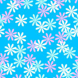 Fun seamless flower pattern Royalty Free Stock Photography