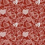 Fun seamless love heart background Stock Photography