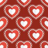 Fun seamless love heart background Royalty Free Stock Photography