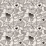 Fun seamless love heart background Royalty Free Stock Photo