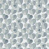 Fun seamless love heart background Stock Photos
