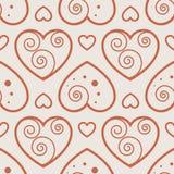 Fun seamless love heart background Stock Image
