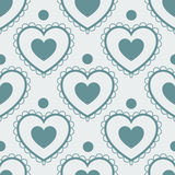 Fun seamless love heart background Royalty Free Stock Photos
