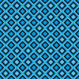 Fun seamless pattern with black and blue diamonds Royalty Free Stock Photos