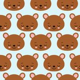 Fun seamless pattern texture design sleeping bears for child themes vector image.  vector illustration