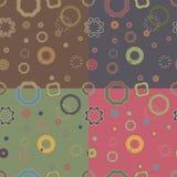 Fun seamless patterns Royalty Free Stock Photo