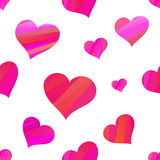 Fun seamless vintage love heart background Stock Image
