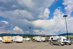 Fun-seekers parked at whitehorse in the yukon territories Royalty Free Stock Photos
