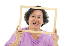 Fun senior woman Royalty Free Stock Photo