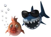 Fun shark Stock Image