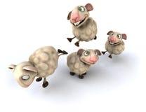 Fun sheep Royalty Free Stock Photos