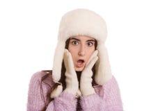 Fun shocked girl Stock Photos