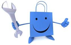 Fun shopping bag Royalty Free Stock Images