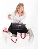 Fun shopping online Stock Image