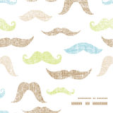 Fun silhouette mustaches frame corner pattern Stock Photo
