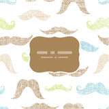 Fun silhouette mustaches frame seamless pattern Royalty Free Stock Photo
