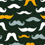 Fun silhouette mustaches seamless pattern Royalty Free Stock Photo