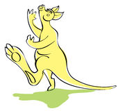 Fun singing kangaroo Royalty Free Stock Photo