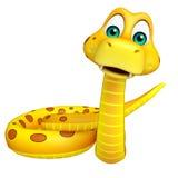 Fun sitting  Snake cartoon character Stock Photos