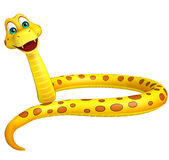 Fun sitting  Snake cartoon character Stock Photos