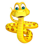 Fun sitting  Snake cartoon character Stock Photo