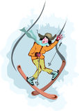 Fun of ski vector Stock Photography