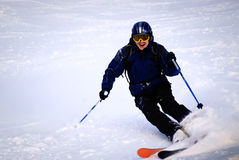 Fun Skier freerider Stock Images