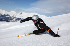 Fun at skiing Stock Photos
