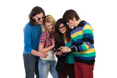 Fun with smart phone Royalty Free Stock Image