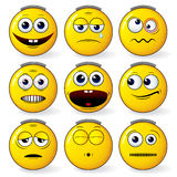 Fun Smileys stock photography