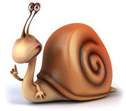 Fun snail. 3D generated picture Stock Photos