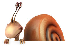 Fun snail. 3D generated picture Royalty Free Stock Photos