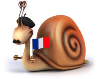 Fun snail Royalty Free Stock Image