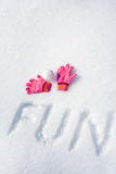 Fun on snow Royalty Free Stock Photos
