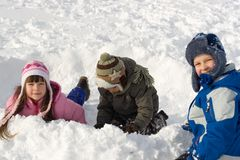Fun In Snow Royalty Free Stock Image