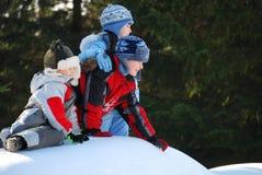 Fun in Snow Stock Image