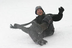 Fun in the Snow royalty free stock image