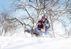 Fun in snow Royalty Free Stock Photography